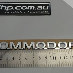 Commodore Word Trunk Badge